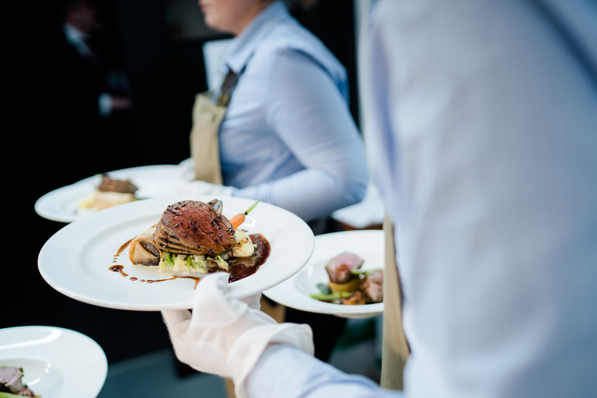 Great tasting food being served at Syrencot wedding venue